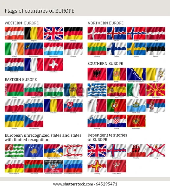flags countries western northern