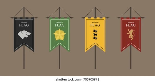medieval banners images stock