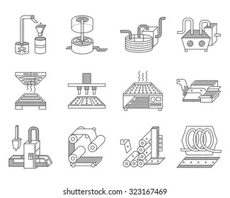 Conveyor Belt Factory Images, Stock Photos & Vectors