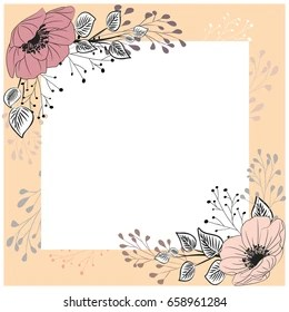 https www shutterstock com image vector floral background frame decorated flowers 658961284