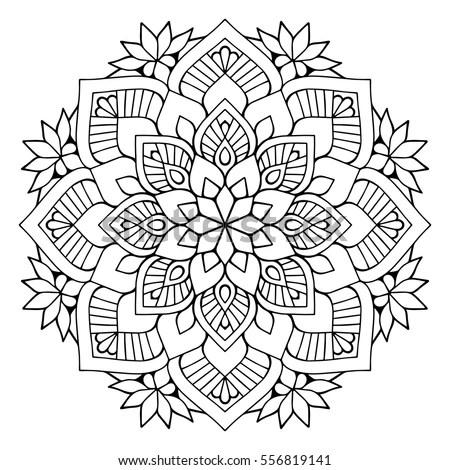 Flower Mandalas Vintage Decorative Elements Oriental Stock