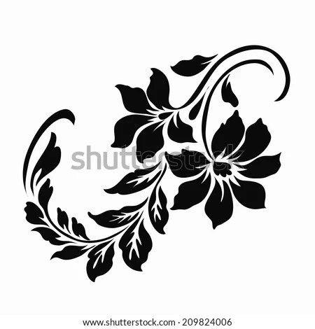Flower Motif Design Stock Vector (Royalty Free) 209824006