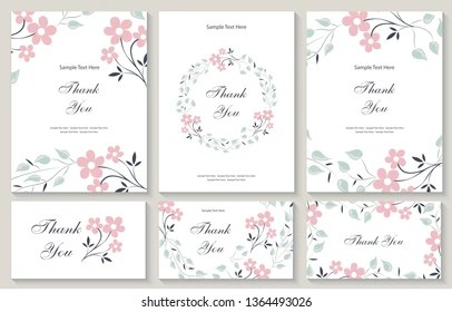 https www shutterstock com image vector flower vector card template thank you 1364493026