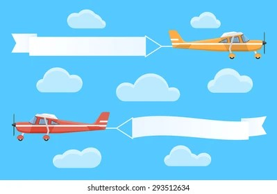 plane banner images stock