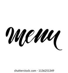 Food Menu Lettering Vector Stock Vector Royalty Free 1136251349