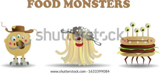 Food Monsters Vector Image Potato Monster Stock Vector Royalty Free 1633399084