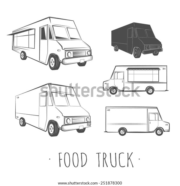 Food Truck Blank Stock Vector (Royalty Free) 251878300