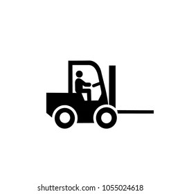 Forklift Driver Isolated Snímky, stock fotografie a