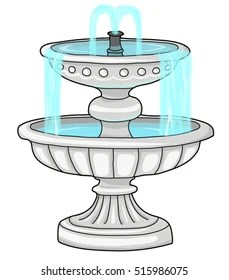 Water Fountain Drawing : water, fountain, drawing, Water, Fountain, Drawing, Images,, Stock, Photos, Vectors, Shutterstock