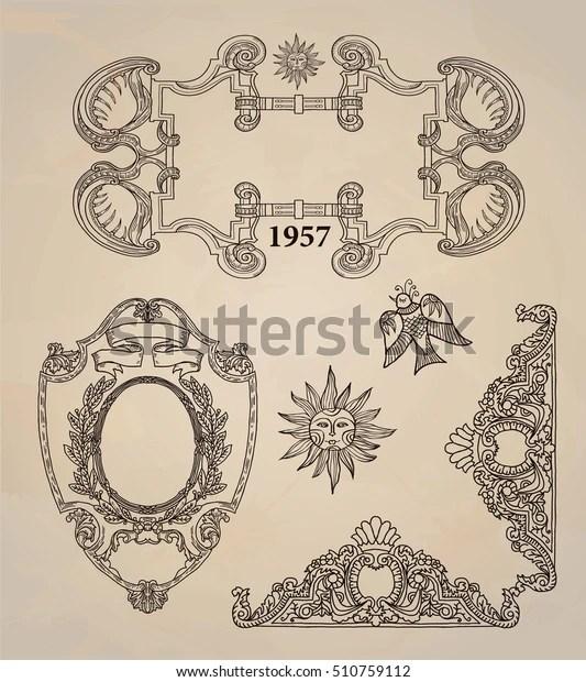 frame border label vintage