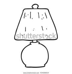 Freehand Drawn Black White Cartoon Lamp Stock Vector Royalty Free 434300014