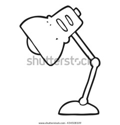 Freehand Drawn Black White Cartoon Lamp Stock Vector Royalty Free 434508109