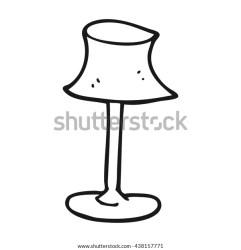 Freehand Drawn Black White Cartoon Lamp Stock Vector Royalty Free 438157771
