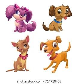 cartoon puppy images stock