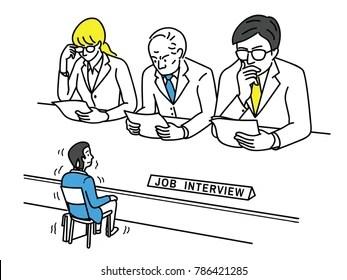 Job Interview Cartoons Images, Stock Photos & Vectors
