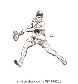 Youth Tennis Stock Illustrations, Images & Vectors