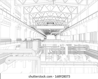tower crane drawing Images, Stock Photos & Vectors