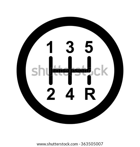 Gear Shifter Icon Stock Vector (Royalty Free) 363505007