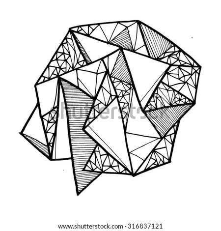 Geometric Shape Lines Lineart Shapes Line Stock Vector