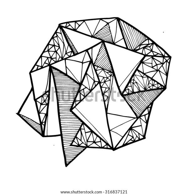Geometric Shape Lines Lineart Shapes Line Stock Vector