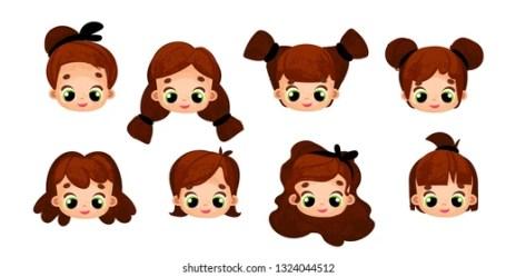 Cartoon Brown Hair Girl Images Stock Photos & Vectors Shutterstock