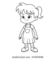 Standing Girl Outline Images Stock Photos & Vectors Shutterstock