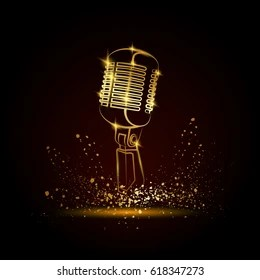 golden mic images stock