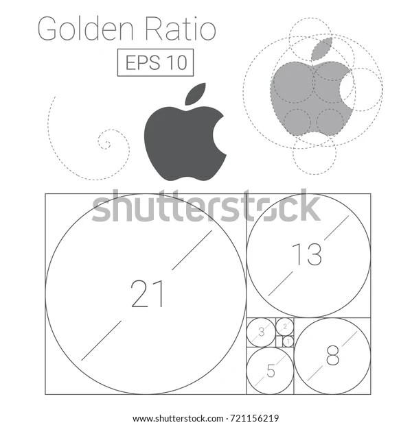 Golden Ratio Template Logo Vector Illustration Stock