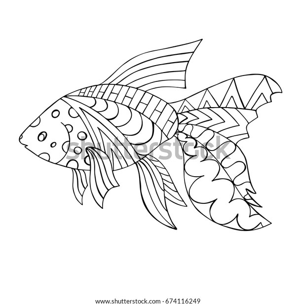 goldfish coloring page # 17