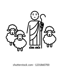 shepherd and sheep Images, Stock Photos & Vectors