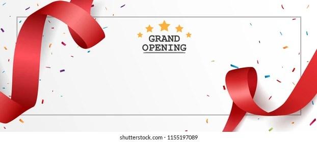https www shutterstock com image vector grand opening card design red ribbon 1155197089