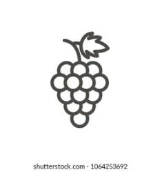 Grape Outline Images Stock Photos & Vectors Shutterstock