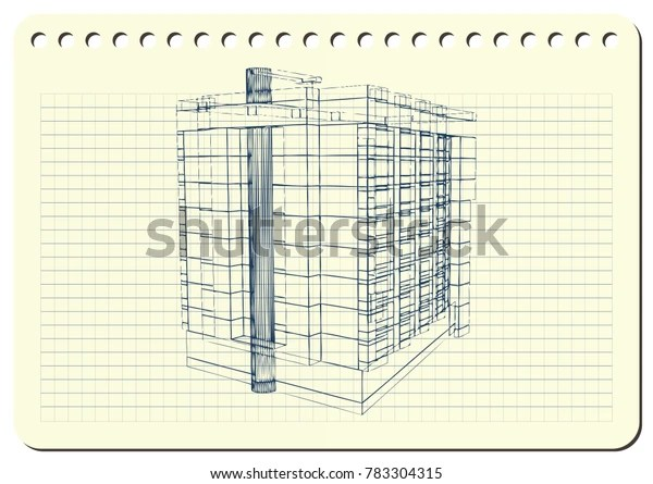 graphic drawing abstract architecture