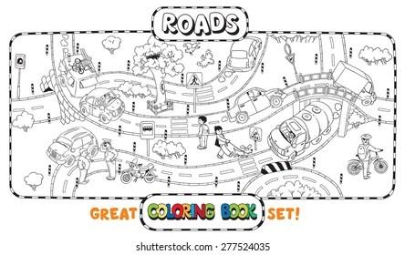 Road Crossing Stock Vectors, Images & Vector Art