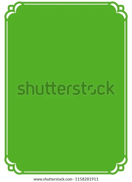 green frame border label