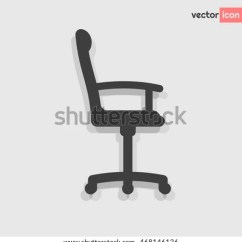 Office Chair Vector Bedroom Amazon Grey Flat Icon Stock Royalty Free Side View One Of Set Web Icons