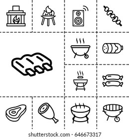 Silhouette Barbeque Stock Images, Royalty-Free Images