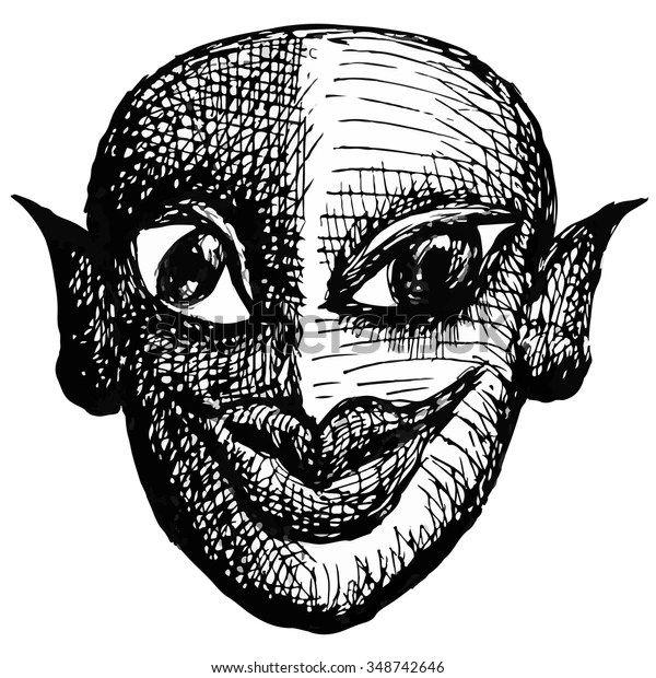 Grotesque Face Freaky Character Stock Vector (Royalty Free) 348742646