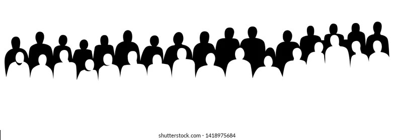 Audience Silhouette Images, Stock Photos & Vectors