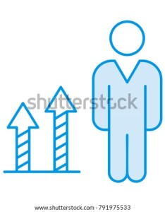 Growth chart employee also stock vector royalty free rh shutterstock