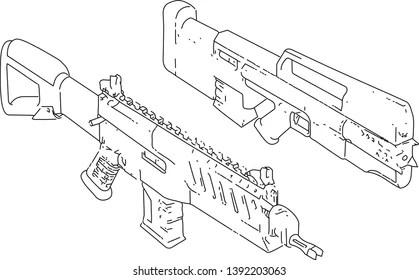 Gun Technical Drawing