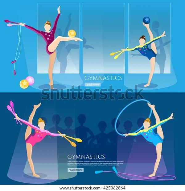 gymnastics girls banner professional