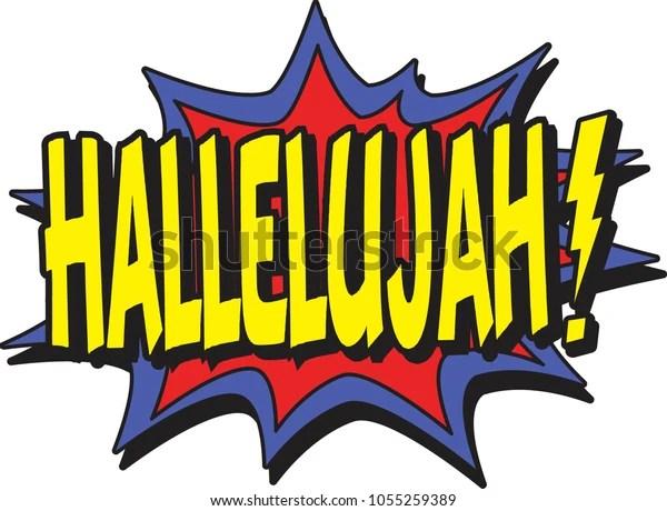 Hallelujah Comic Burst Stock Vector (Royalty Free) 1055259389