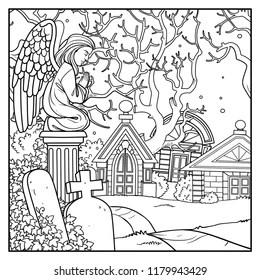 Angel Tomb Stock Illustrations, Images & Vectors