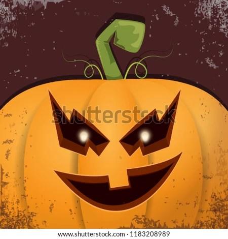 halloween pumpkin face on