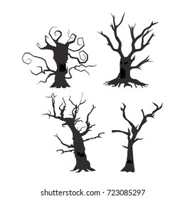 spooky tree images stock