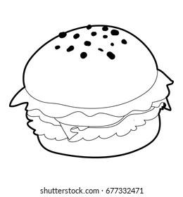 [Nadający się do druku] Hamburger Kolorowanka
