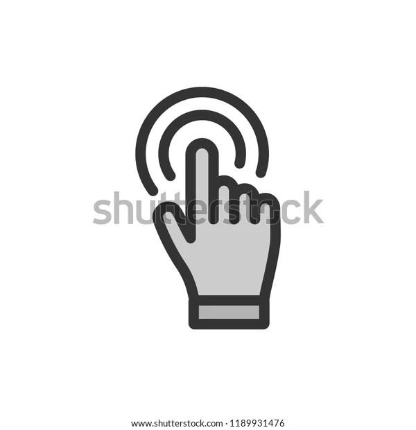 hand click vector icon