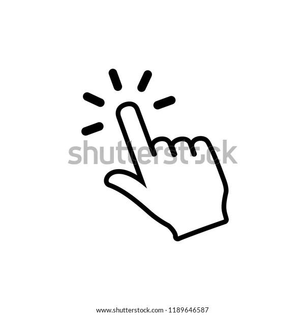 Hand Cursor Click Icon Symbol Symbol Stock Vector (Royalty