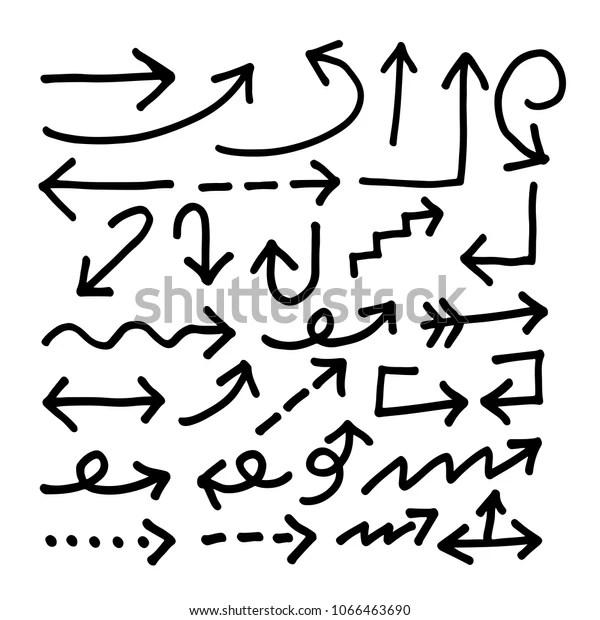Hand Drawn Arrow Icon Stock Vector (Royalty Free) 1066463690